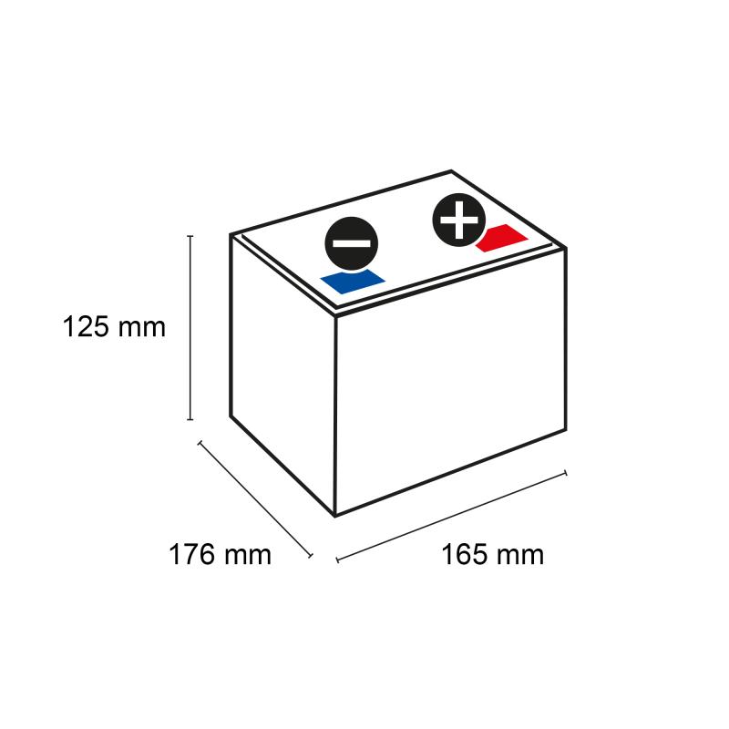 q batteries 12ls 24 12v 24ah blei vlies akku agm vrla. Black Bedroom Furniture Sets. Home Design Ideas