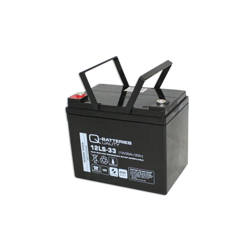 q batteries 12ls 33 12v 35ah blei akku standard typ. Black Bedroom Furniture Sets. Home Design Ideas