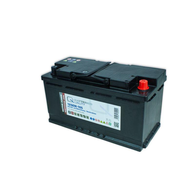 Q Batteries 12sem 105 12v 105ah Semitraktionsbatterie