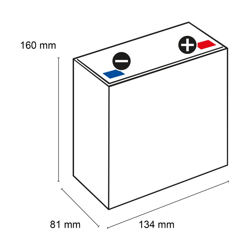 q batteries motorradbatterie yb12al a 51213 12v 12ah 165a. Black Bedroom Furniture Sets. Home Design Ideas