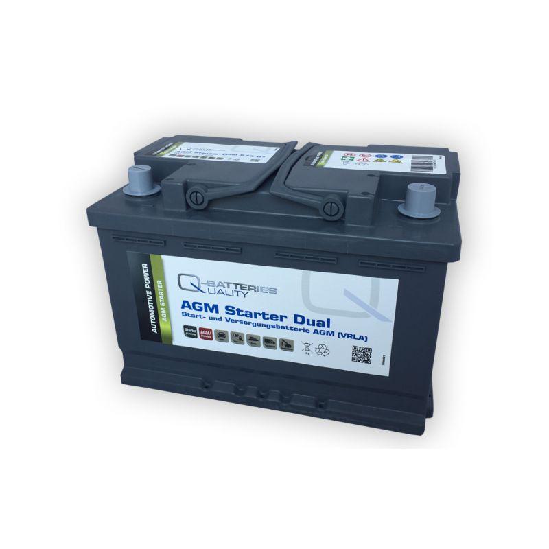 q batteries starter und versorgungsbatterie agm 570 01 12v 70ah 760. Black Bedroom Furniture Sets. Home Design Ideas
