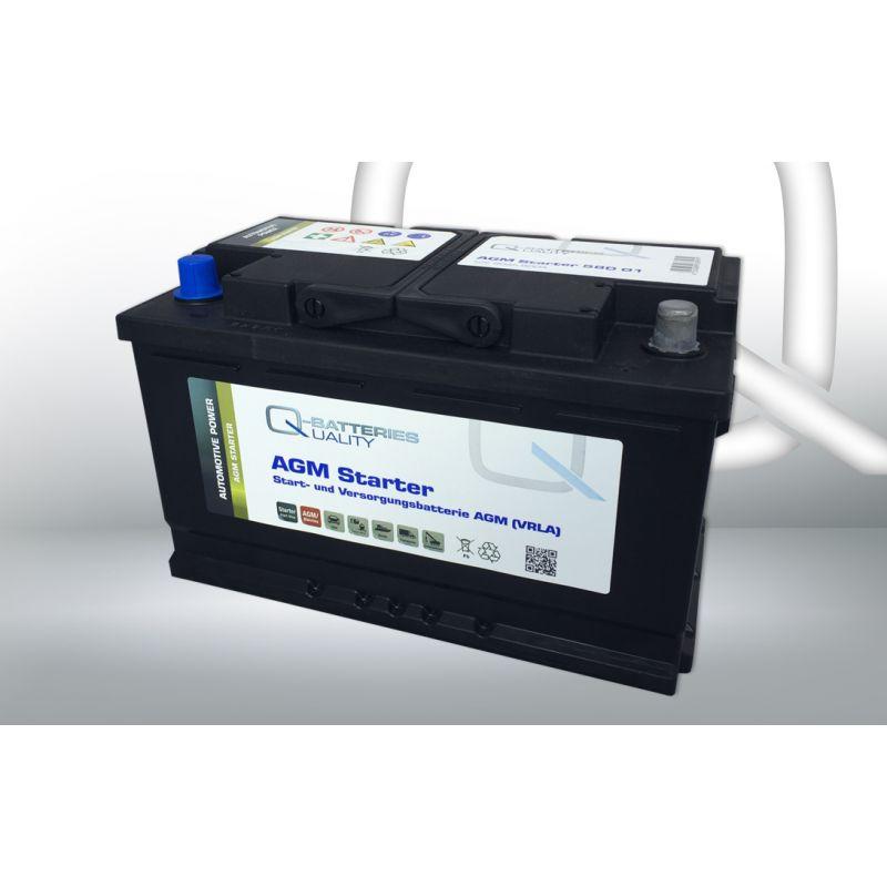 q batteries starter und versorgungsbatterie agm 580 01 12v 80ah 800a. Black Bedroom Furniture Sets. Home Design Ideas