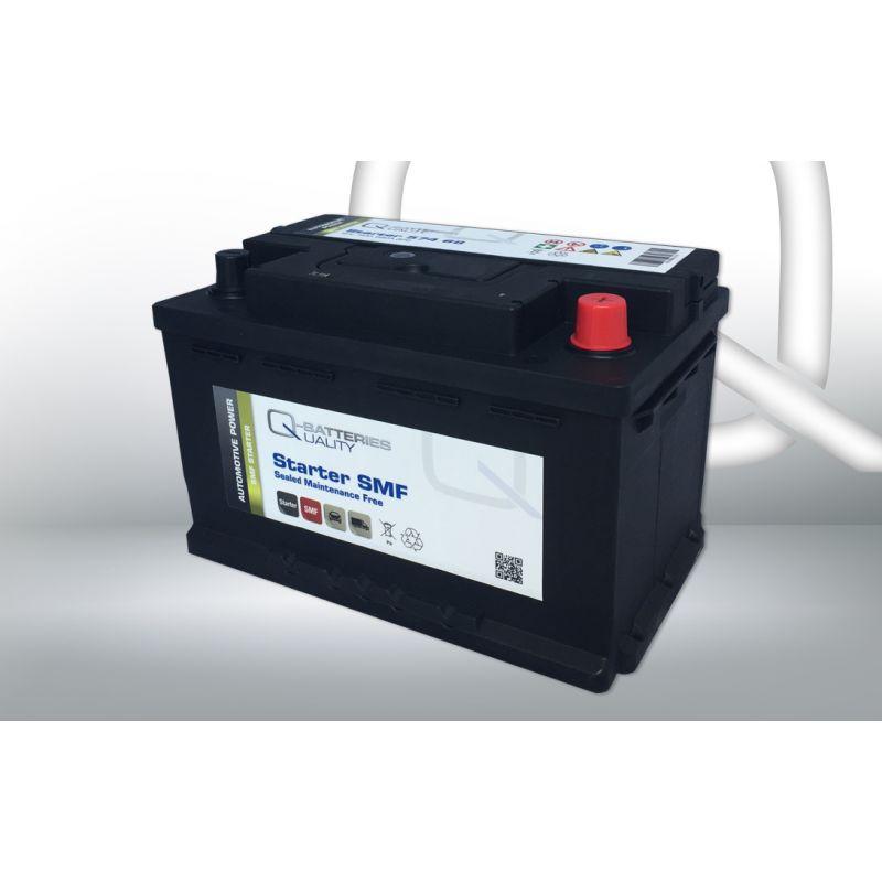 q batteries starterbatterie 574 68 q74 12v 74ah 680a. Black Bedroom Furniture Sets. Home Design Ideas
