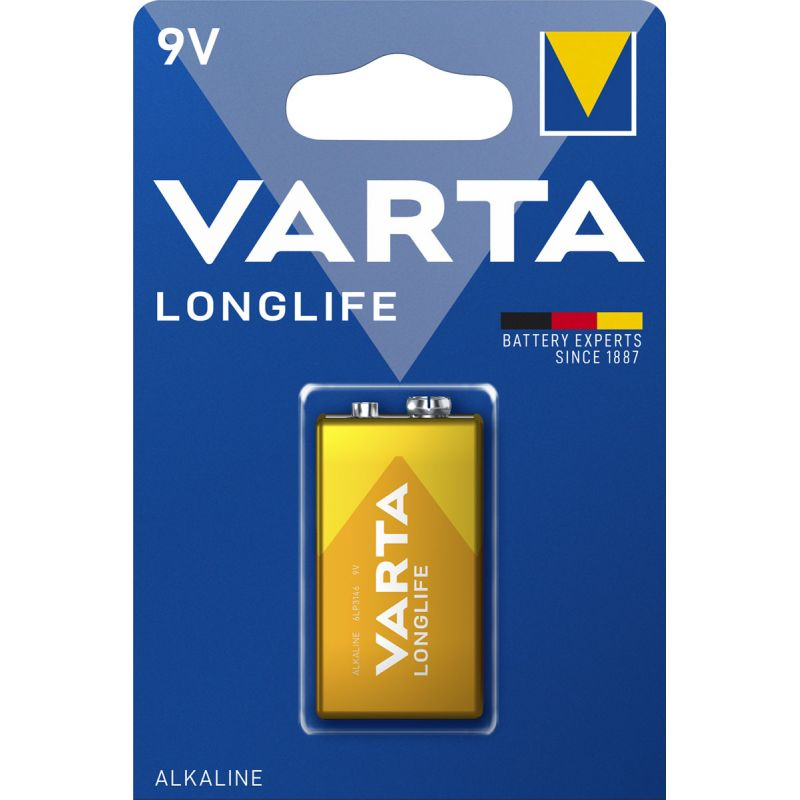 varta longlife 9v block batterie 4122 1er blister. Black Bedroom Furniture Sets. Home Design Ideas