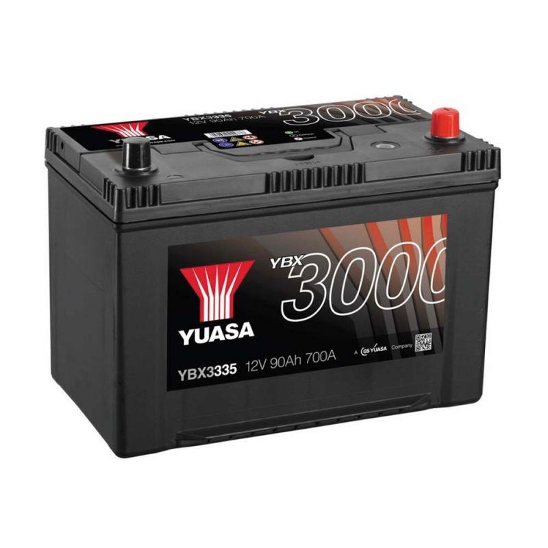 yuasa smf autobatterie starterbatterie ybx3335 59504 12v. Black Bedroom Furniture Sets. Home Design Ideas